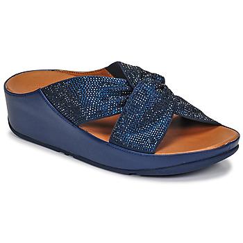 Shoes Women Sandals FitFlop TWISS CRYSTAL SLIDE Blue