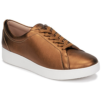 Shoes Women Low top trainers FitFlop RALLY SNEAKERS Gold