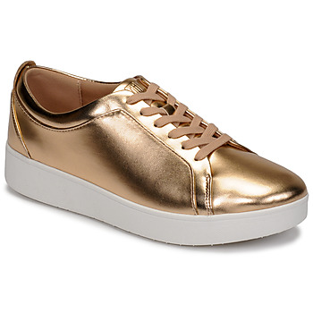 Shoes Women Low top trainers FitFlop RALLY METALLIC SNEAKERS Pink