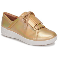 Shoes Women Low top trainers FitFlop F-SPORTY II LACE UP FRINGE SNEAKERS-IRIDESCENT LTR Gold