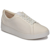 Shoes Women Low top trainers FitFlop RALLY DENIM White