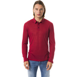 Clothing Men Long-sleeved polo shirts Byblos Blu Polo Red  Man Red