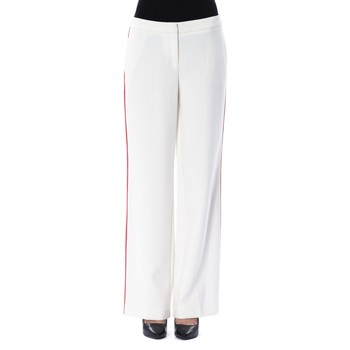 Clothing Women Tracksuit bottoms Byblos Blu Trousers White  Woman White