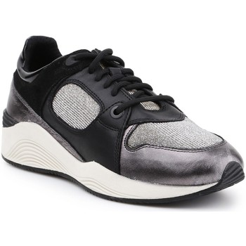 Shoes Women Low top trainers Geox D Omaya A D540SA-085EW-C9B1G black, silver