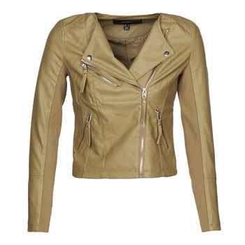 Clothing Women Leather jackets / Imitation leather Vero Moda VMRIAFAVO Beige