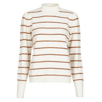 Clothing Women Jumpers Vero Moda VMCORNELIAPUFF White / Brown
