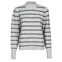 Clothing Women Jumpers Vero Moda VMCORNELIAPUFF Grey / Black