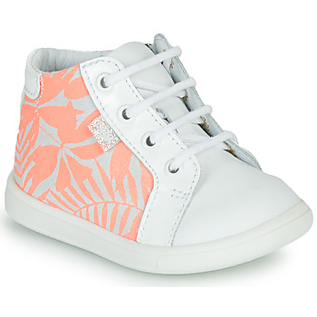 Shoes Girl Hi top trainers GBB FAMIA White / Pink