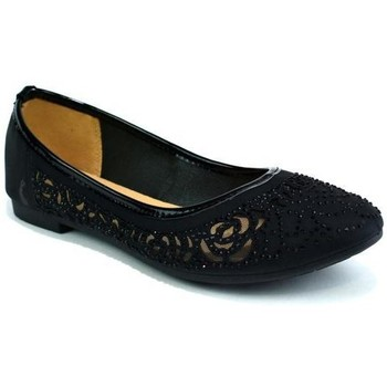 Shoes Girl Flat shoes Reveal Love Your Look Girls Flat Diamante Ballerina Black