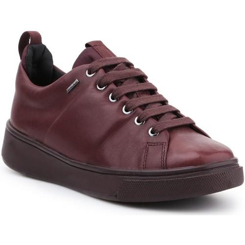 Shoes Women Low top trainers Geox D Mayrah B ABX C D643MC-00085-C7357 burgundy