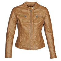 Clothing Women Leather jackets / Imitation leather Only ONLBANDIT Cognac