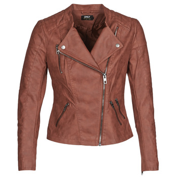 Clothing Women Leather jackets / Imitation leather Only ONLAVA Bordeaux