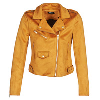 Clothing Women Leather jackets / Imitation leather Only ONLSHERRY BONDED Cognac