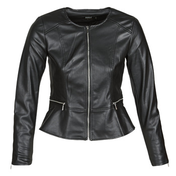 Clothing Women Leather jackets / Imitation leather Only ONLJENNY Black