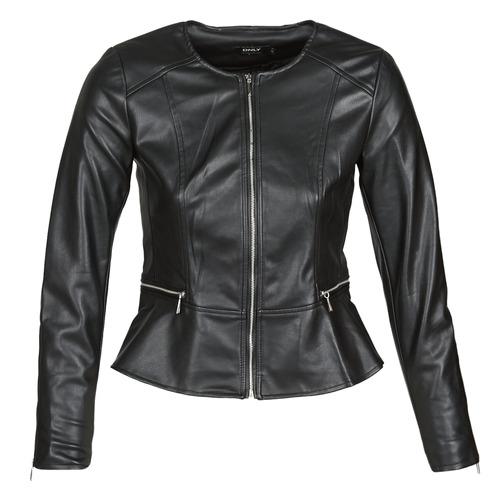 Clothing Women Leather jackets / Imitation leather Only ONLJENNY Black
