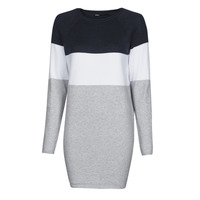 Clothing Women Short Dresses Only ONLLILLO Marine / White / Grey