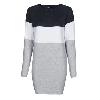 Clothing Women Short Dresses Only ONLLILLO Marine / White / Grey