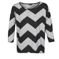 Clothing Women Tops / Blouses Only ONLELCOS Grey / Black