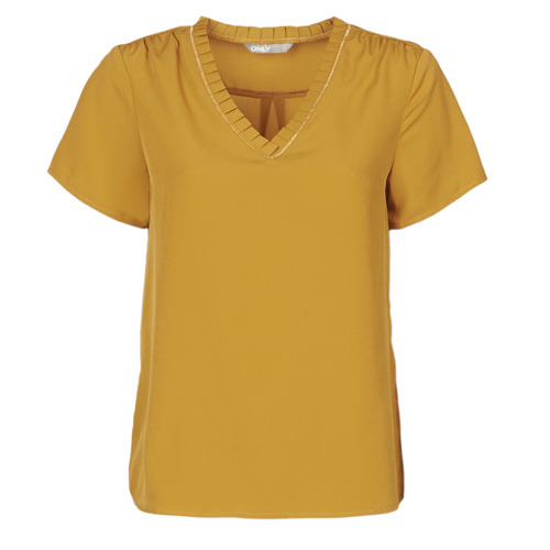Clothing Women Short-sleeved t-shirts Only ONLVICKY Yellow