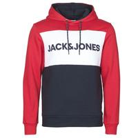 Clothing Men sweaters Jack & Jones JJELOGO BLOCKING Red
