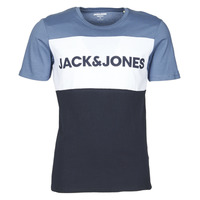 Clothing Men Short-sleeved t-shirts Jack & Jones JJELOGO BLOCKING Blue