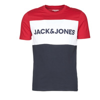 Clothing Men Short-sleeved t-shirts Jack & Jones JJELOGO BLOCKING Red