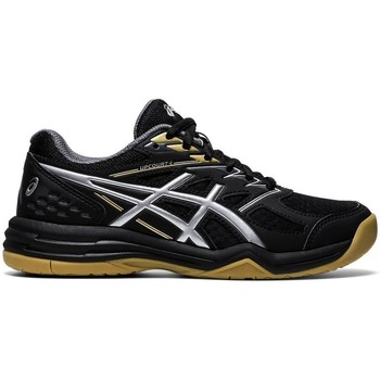 Shoes Children Indoor sports trainers Asics Upcourt GS Black,Silver