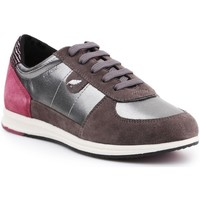Shoes Women Low top trainers Geox D Avery Silver,Brown,Pink