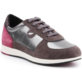 Shoes Women Low top trainers Geox D Avery Silver, Brown, Pink