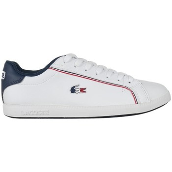 Shoes Men Low top trainers Lacoste Graduate 119 3 Sma White,Navy blue