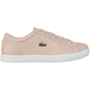 Shoes Women Low top trainers Lacoste Straightset Lace 317 3 Caw Beige