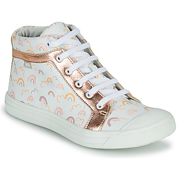 Shoes Girl Hi top trainers GBB LEOZIA White / Pink
