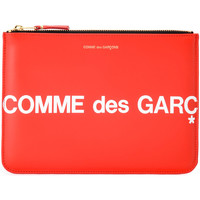 Bags Women Wallets Comme Des Garcons Comme Des Garçons Sachet Wallet Huge Logo in red leather Red
