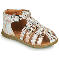 Shoes Girl Sandals GBB PERLE White / Pink / Gold