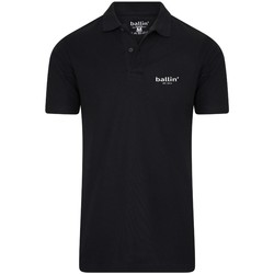 Clothing Men short-sleeved polo shirts Ballin Est. 2013 Basic Polo Black