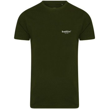 Clothing Men short-sleeved t-shirts Ballin Est. 2013 Small Logo Shirt Green