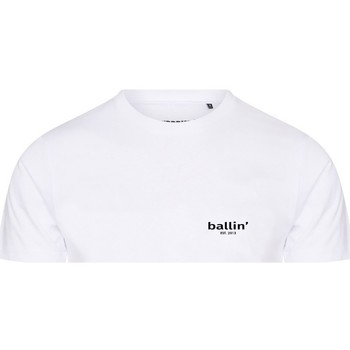 Clothing Men short-sleeved t-shirts Ballin Est. 2013 Small Logo Shirt White