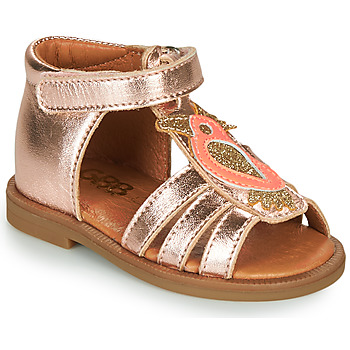 Shoes Girl Sandals GBB FRANIA Pink / Gold