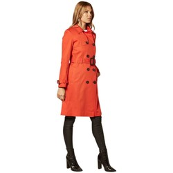 Clothing Women Coats De La Creme Double Breasted Trench Coat red