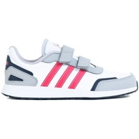 Shoes Children Low top trainers adidas Originals VS Switch 3 C White,Grey,Pink