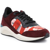 Shoes Women Low top trainers Geox D Omaya Red, Burgundy