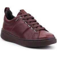 Shoes Women Low top trainers Geox D Mayrah B Abx Burgundy