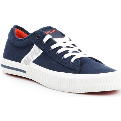 Shoes Men Low top trainers Replay Kinard RV840015T-0040 navy , white