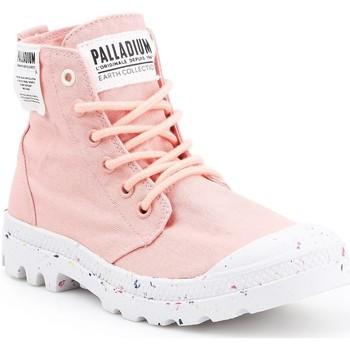 Shoes Women Hi top trainers Palladium HI Organic W 96199-647-M pink