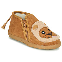 Shoes Children Slippers Little Mary LIONZIP Cognac