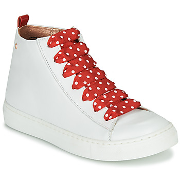 Shoes Girl Hi top trainers Little Mary SASHA (VE014) White / Red