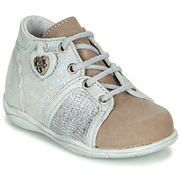 Shoes Girl Mid boots Little Mary VANILLE Silver / Taupe