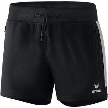 Clothing Women Shorts / Bermudas Erima Short femme  Worker Squad noir/blanc