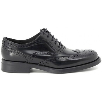 Shoes Women Derby Shoes Moda STILE INGLESE NERO LUCIDO Multicolore