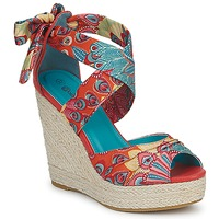 Shoes Women Sandals Moony Mood FIRNIL Pink / Multicoloured